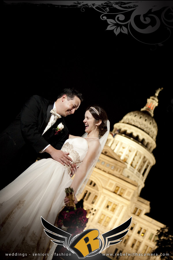 Amazing wedding pictures at the Austin Club in downtown Austin, TX