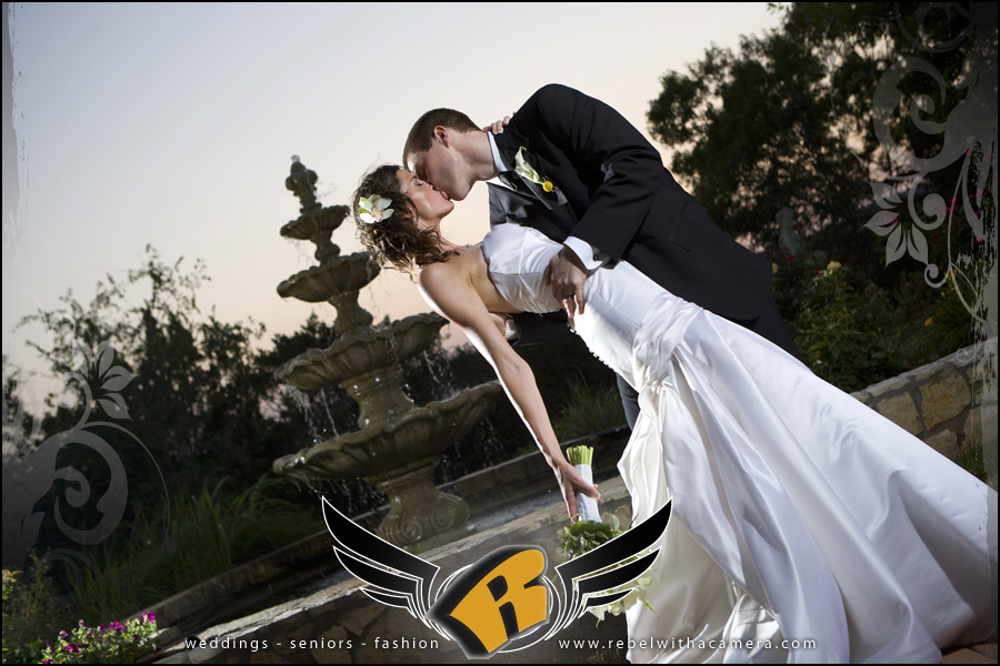 Dramatic wedding pictures at Nature's Point on the shores of Lake Travis