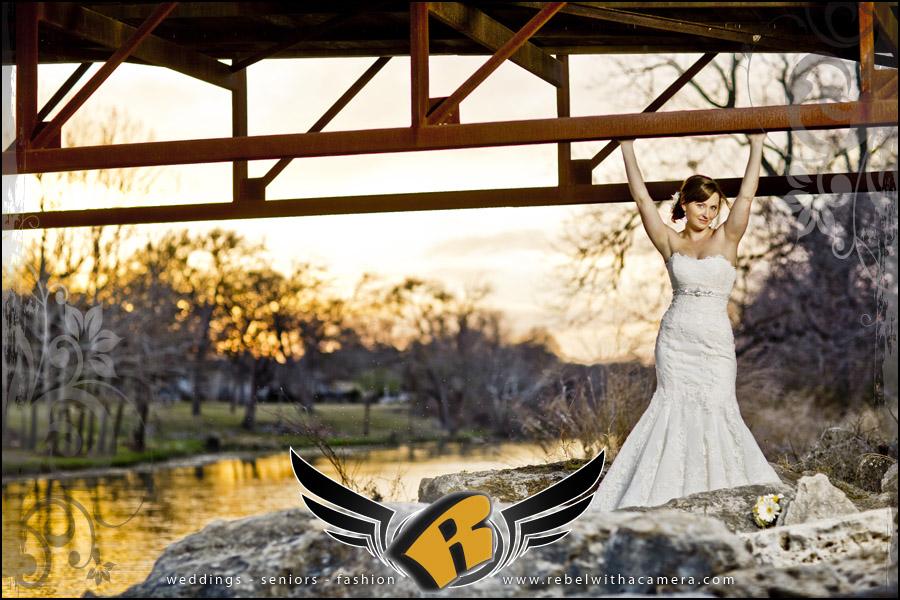 stunning bridal portrait in Georgetown, TX