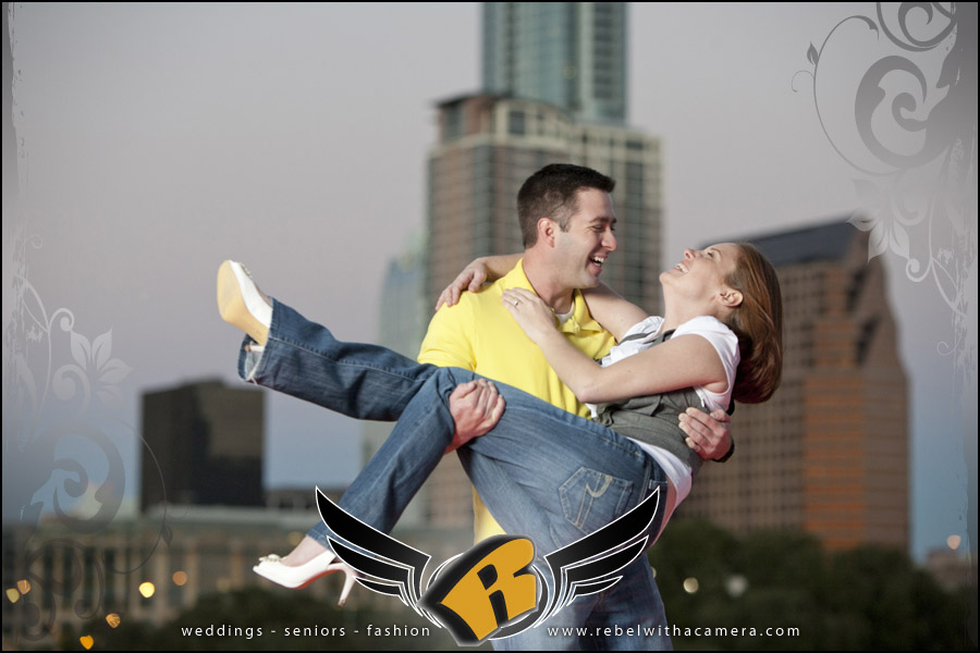 central texas engagement pictures in austin