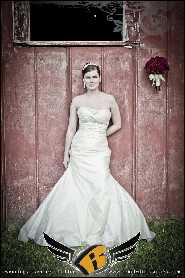 Bridal photos in Salado, Tx