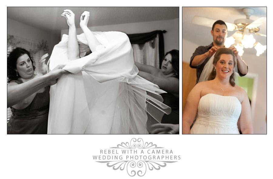 Happy wedding photos at Kindred Oaks