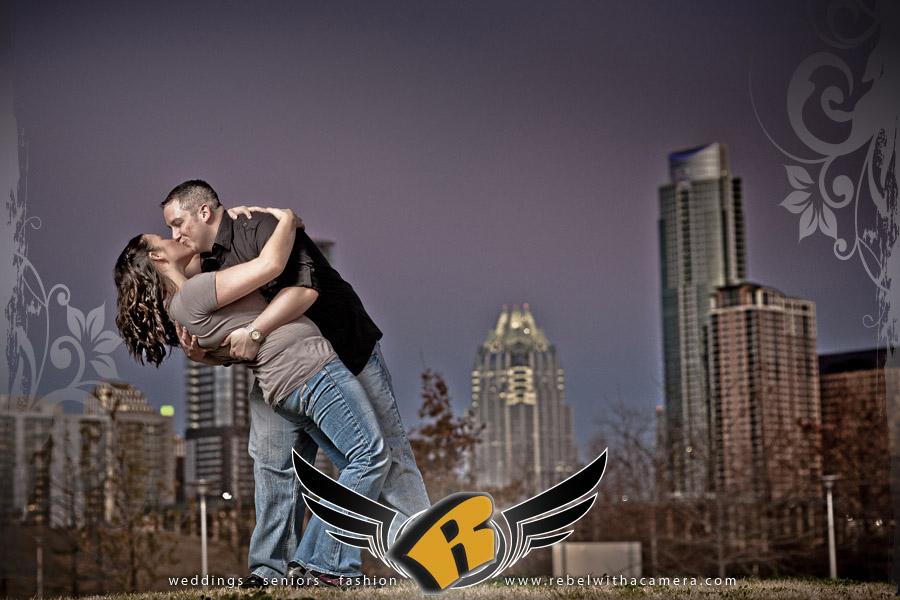 Awesome engagement pictures at the Long Center