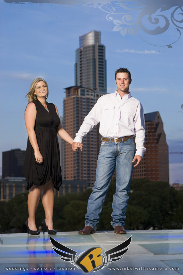 Long Center engagement pictures Austin, Texas