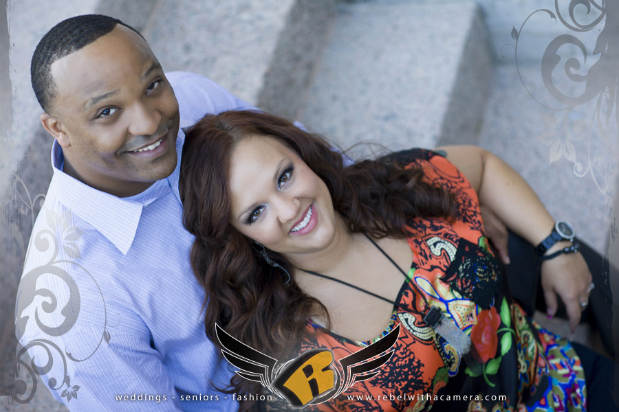 Engagements portraits at the Texas Capitol