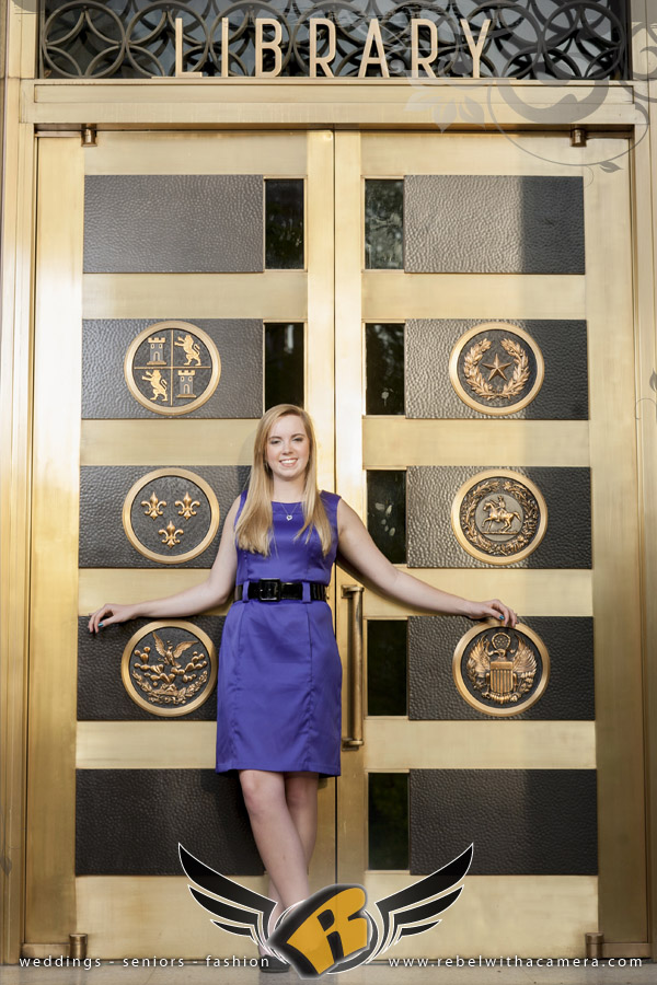 Senior photos at the Texas Capitol and the University of Texas at Austin