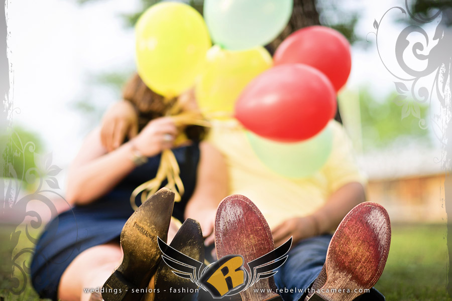 Carnival engagement pictures at the Burnet Bluebonnet Festival in Texas