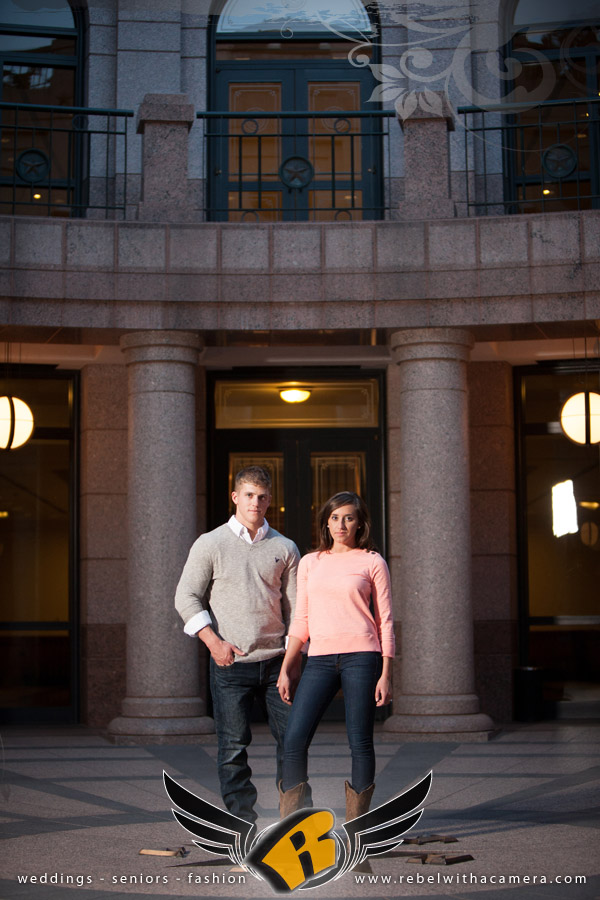 Military engagement portraits at the Texas Capitol in Austin