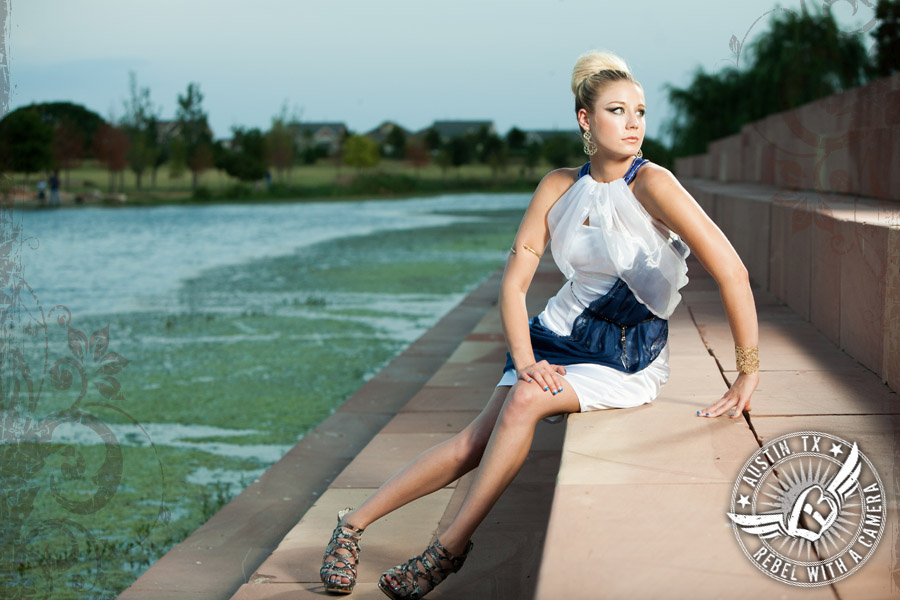 Austin Fashion Week - model shoot at Mueller Lake Park