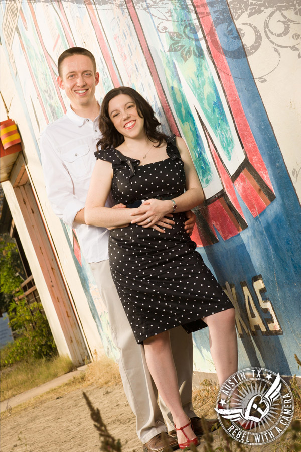 Greetings from Austin Engagement portrait