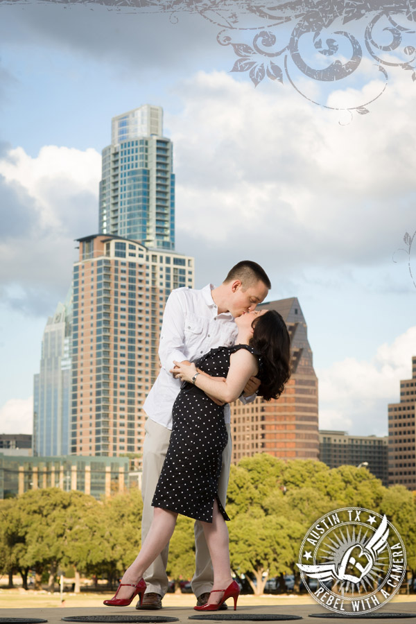 Long Center Austin Texas engagement portrait