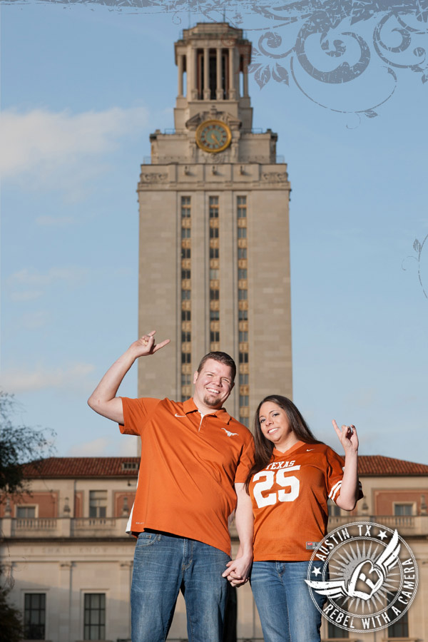 UT campus engagement pictures