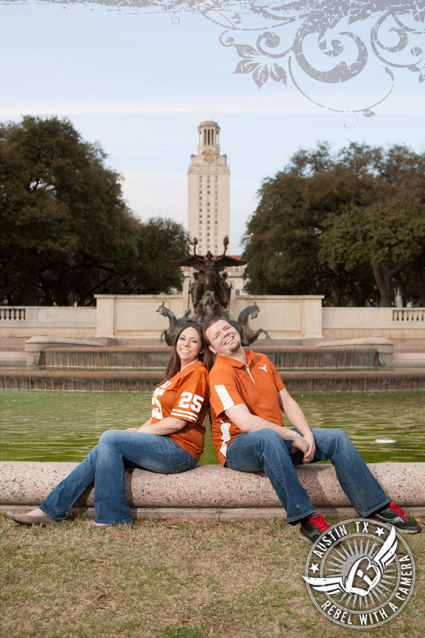 dennis and kelly austin engagement portraits on the ut