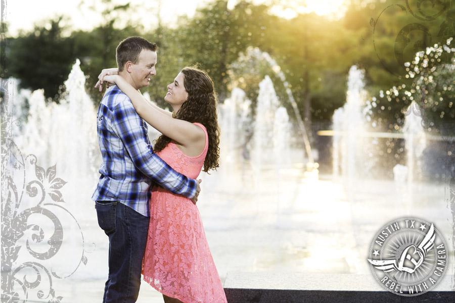 Liz Carpenter Fountain engagement pictures