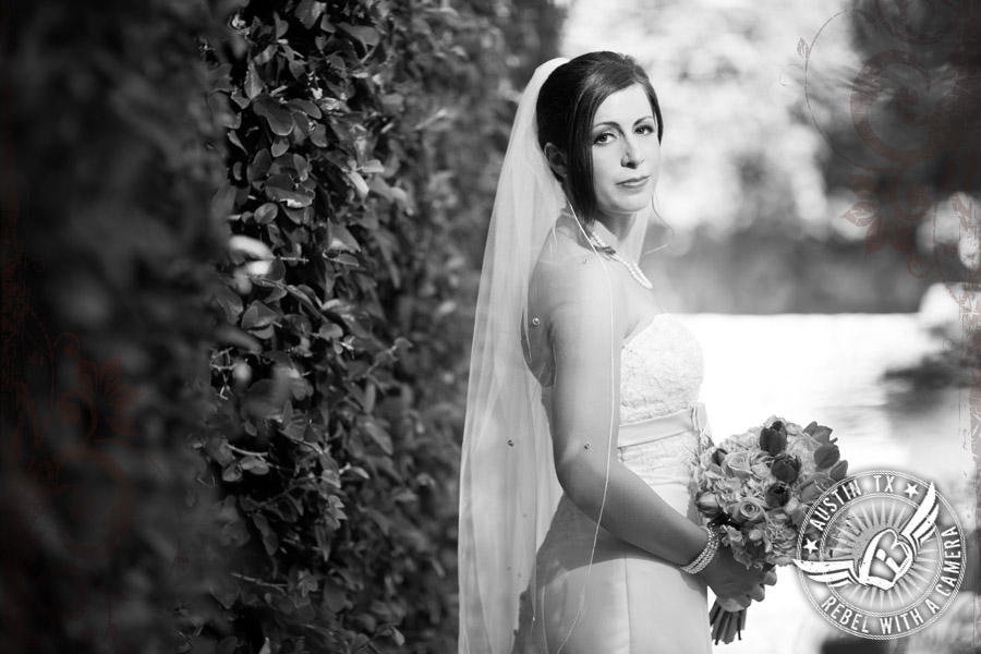 Bridal portraits at Nature's Point in summer.