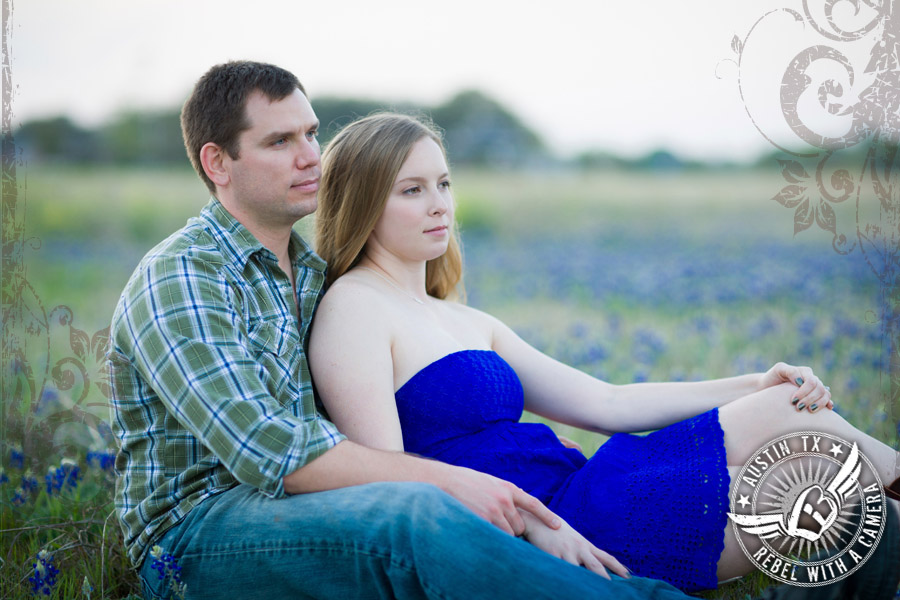 Bluebonnet engagement portraits in Texas