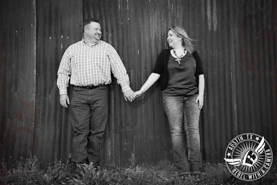 Country engagement photos in Granger, TX