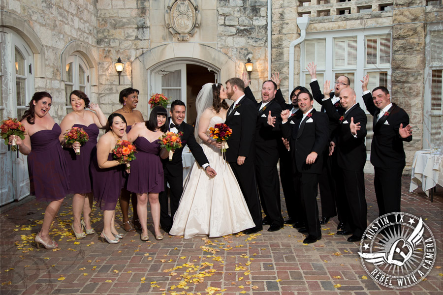 Elegant wedding photos at Chateau Bellevue in Austin