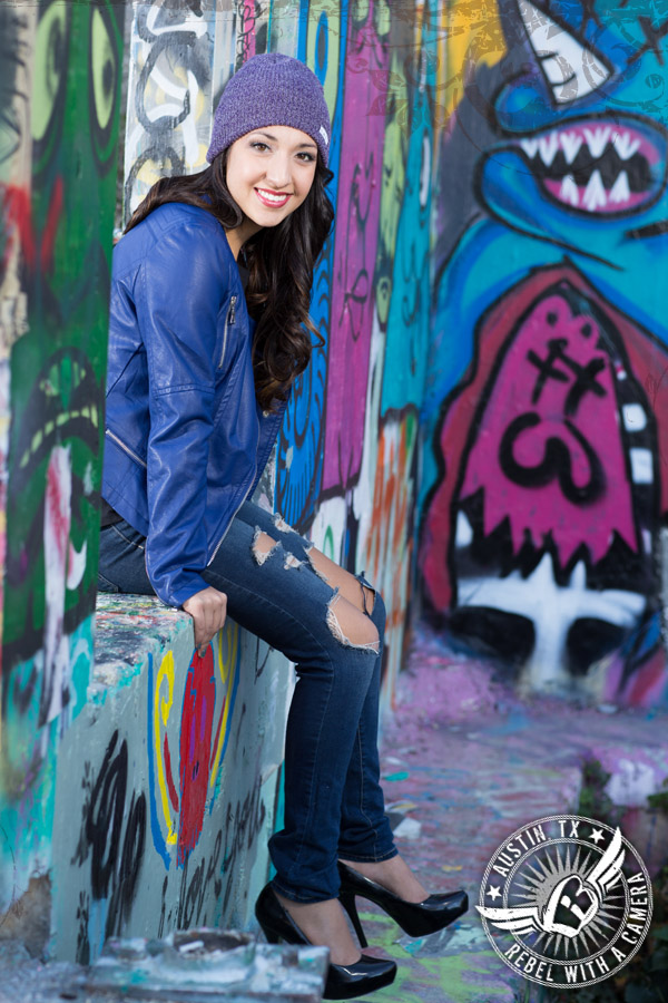 Urban senior portraits in Austin