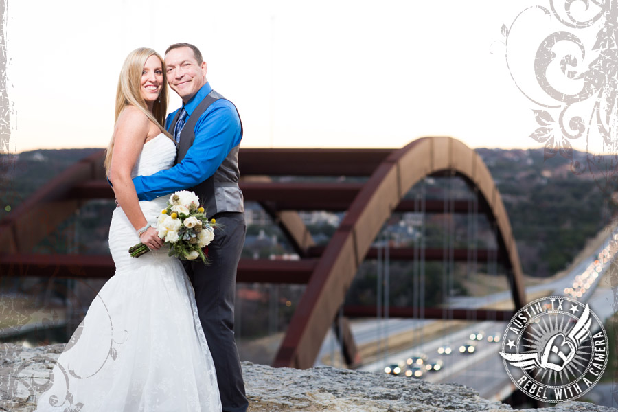 Wedding after session at the 360 Bridge in Austin