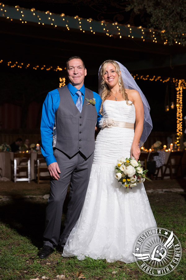 Lovely winter wedding at Sicola's Garden House in Austin, Texas.