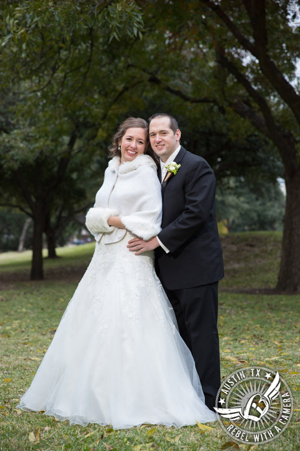 Winter Wedding Photos at St. Austin's Church, the Texas Capitol, and Kindred Oaks