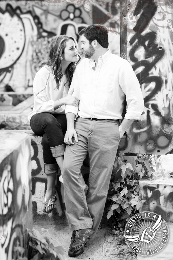 Castle Hill Graffiti and UT campus engagement pictures