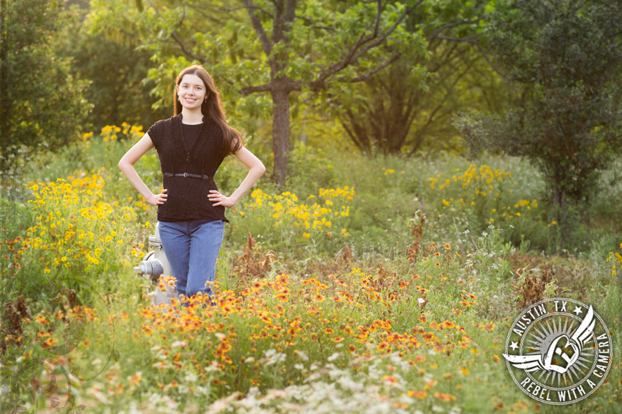 Awesome Austin senior portraits at Mueller Lake Park