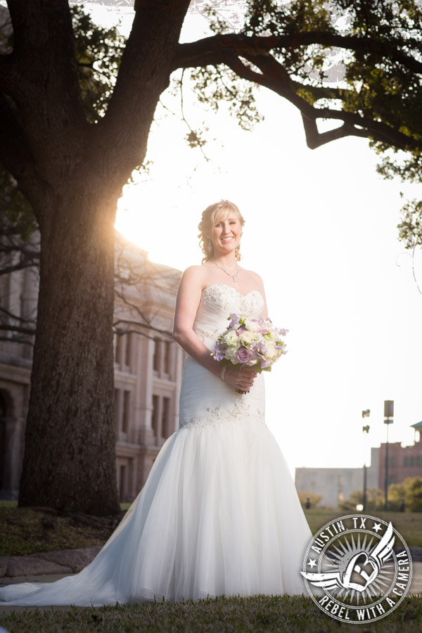 Beautiful bridal portraits at the Texas State Capitol
