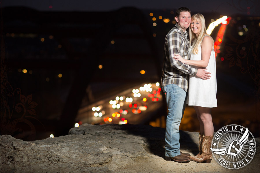 Fun Engagement pictures at the Pennybacker Bridge