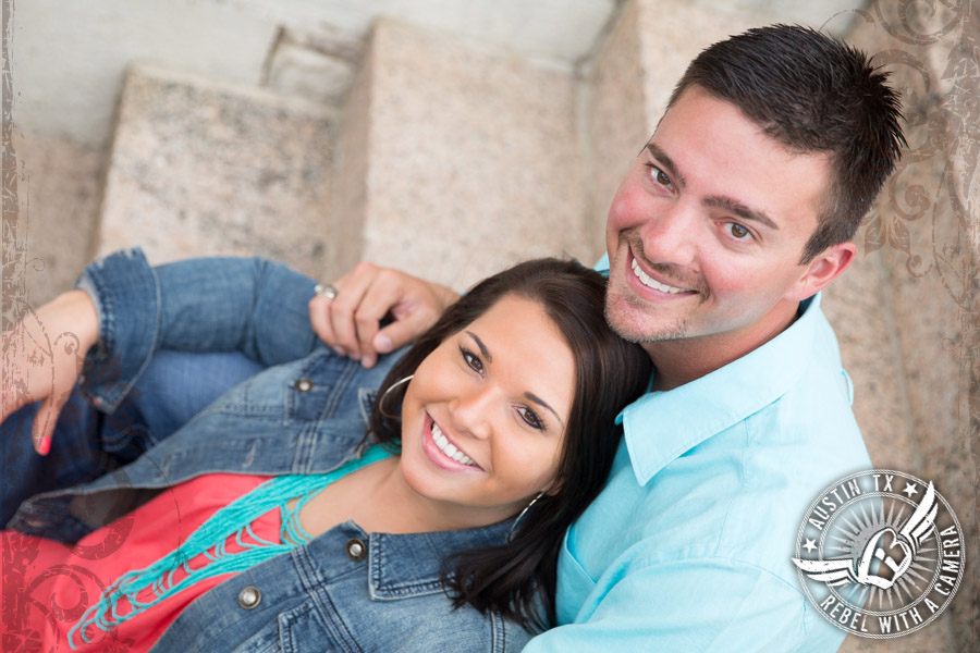 Fun engagement portraits in Austin