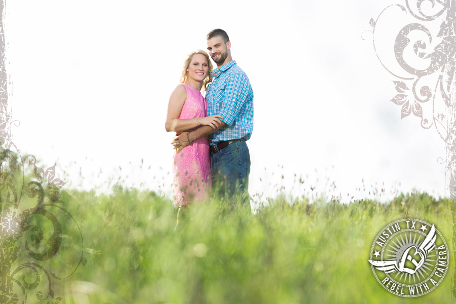 Rustic country engagements pictures in Austin