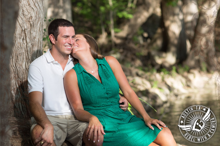 Fun engagement pictures in Gruene