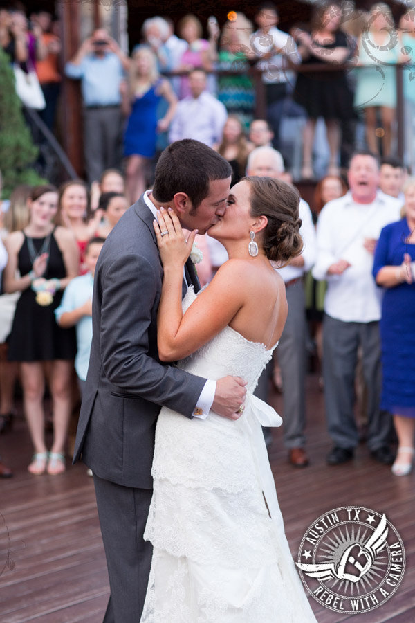 Bride and groom first dance at Nature's Point