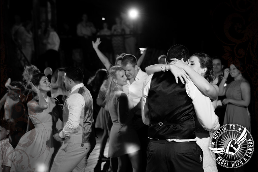 Bride and groom's last dance at Nature's Point wedding venue