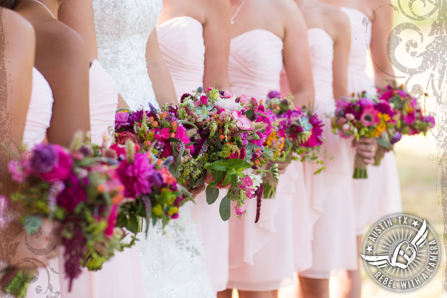 Gorgeous bridesmaids bouquets by Petal Pushers at Vista West Ranch