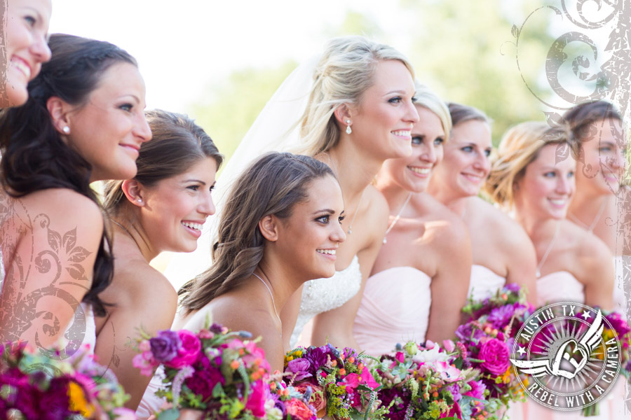 Bride and bridesmaids at Vista West Ranch