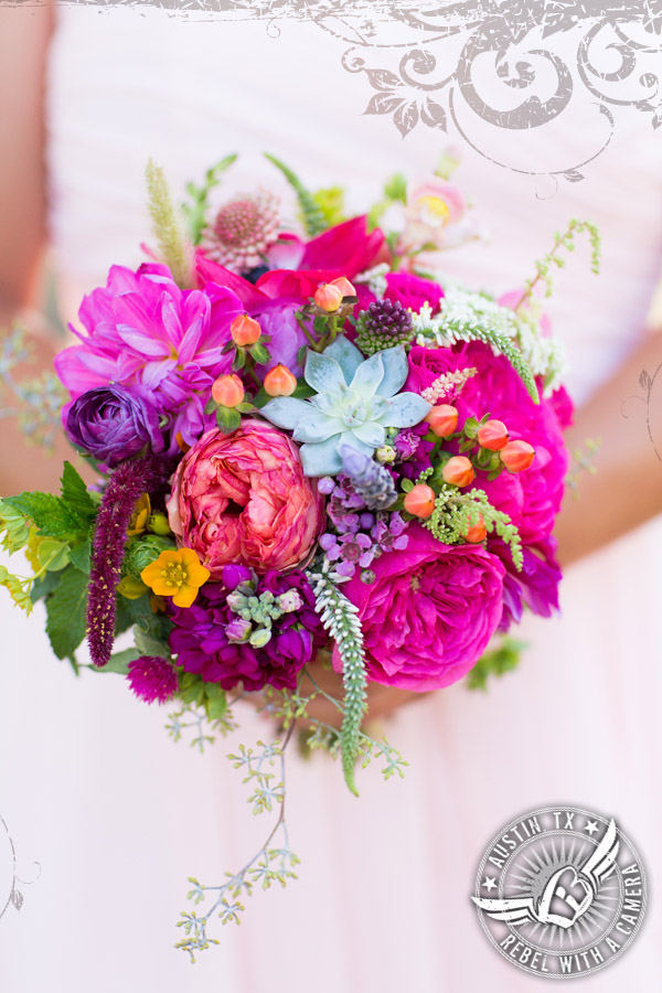 Gorgeous bridesmaid bouquet by Petal Pushers at Vista West Ranch