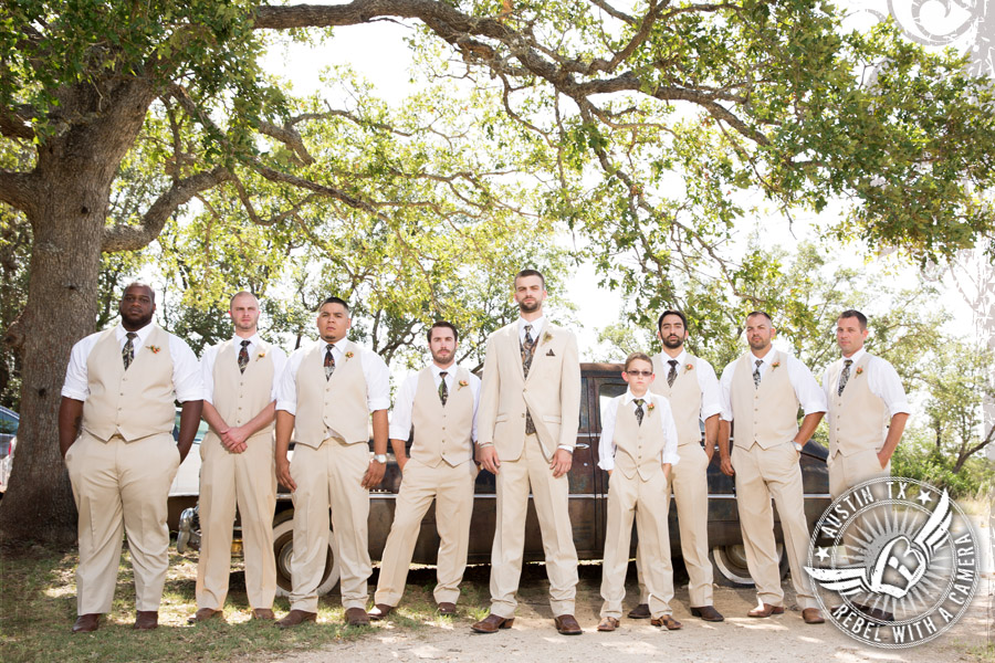 Groom and groomsmen at Vista West Ranch