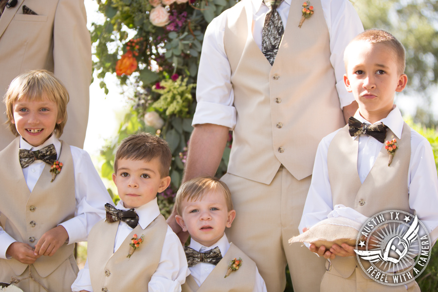 Adorable ringbearers at Vista West Ranch