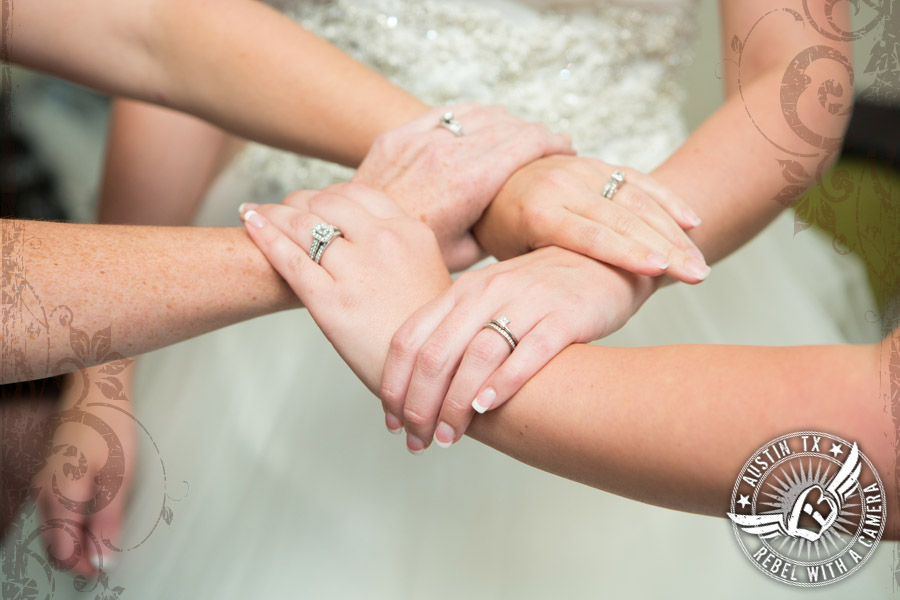 Wedding rings at Gabriel Springs Event Center in Georgetown, Texas