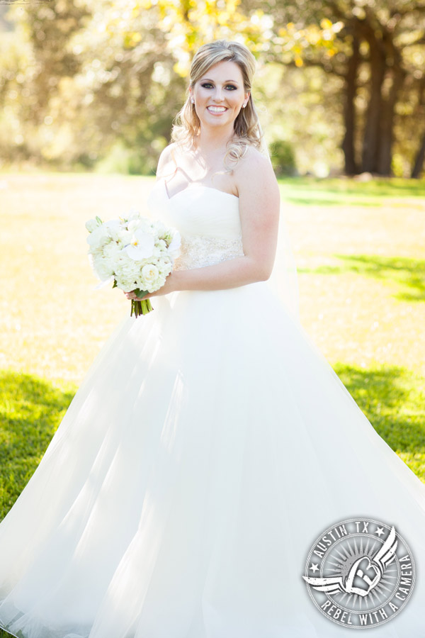 Picture of beautiful bride at Gabriel Springs Event Center in Georgetown, Texas
