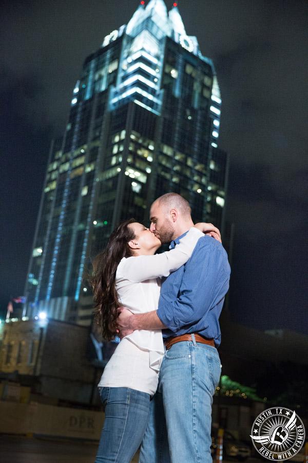 Downtown Austin, Texas, engagement portraits