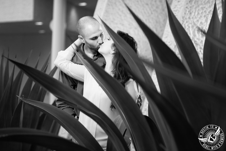 Austin, Texas, engagement portraits at the Mexican American Cultural Center