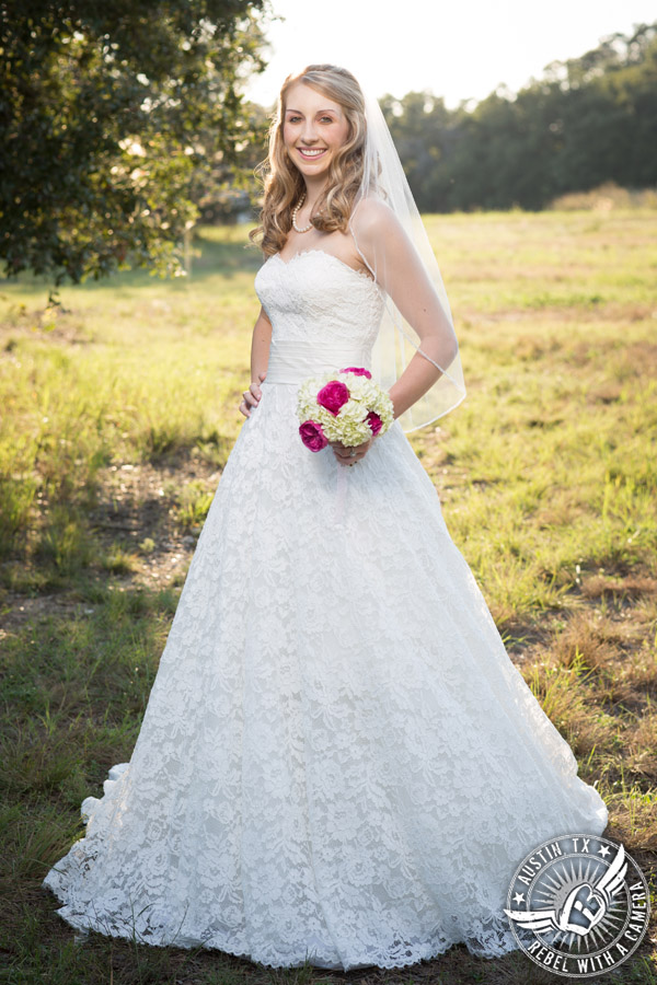 Rustic country bridal portraits in texas